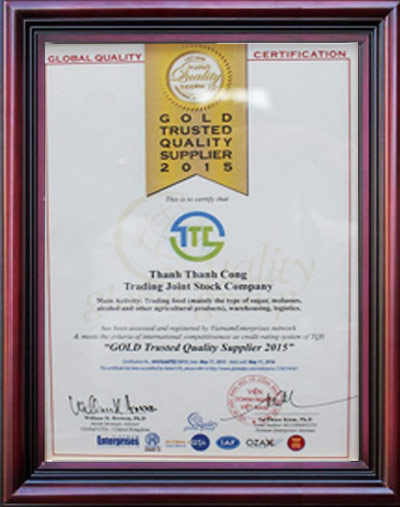 Gold trusted quality supplier 2015